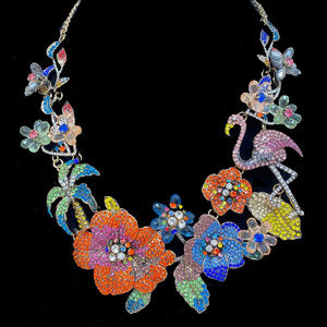Natasha Tropical Statement Necklace